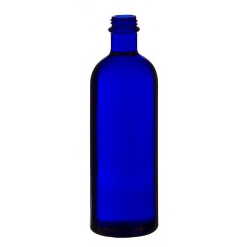 Flessen in blauw glas, 3 stuks van elk 200 ml